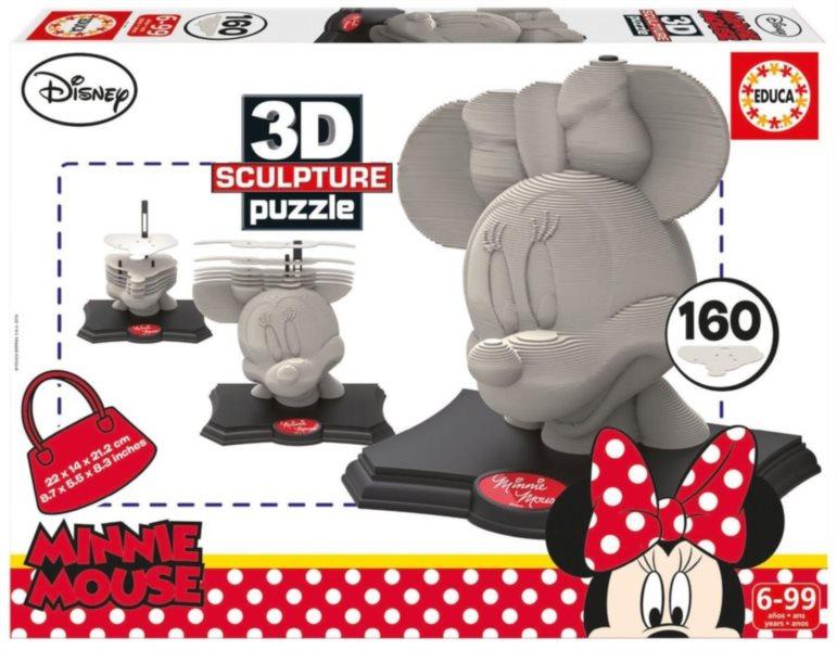 EDUCA 3D Puzzle Minnie 160 dílků