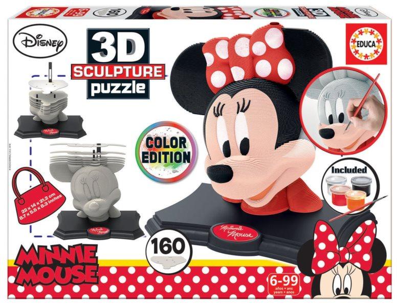 EDUCA 3D Puzzle Minnie Mouse 160 dílků s barvami