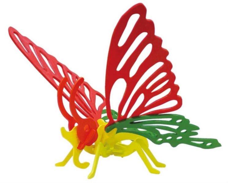 ROBOTIME 3D puzzle Motýl s barvičkami