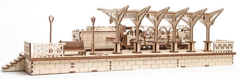 UGEARS 3D puzzle Nádraží 196 dílků