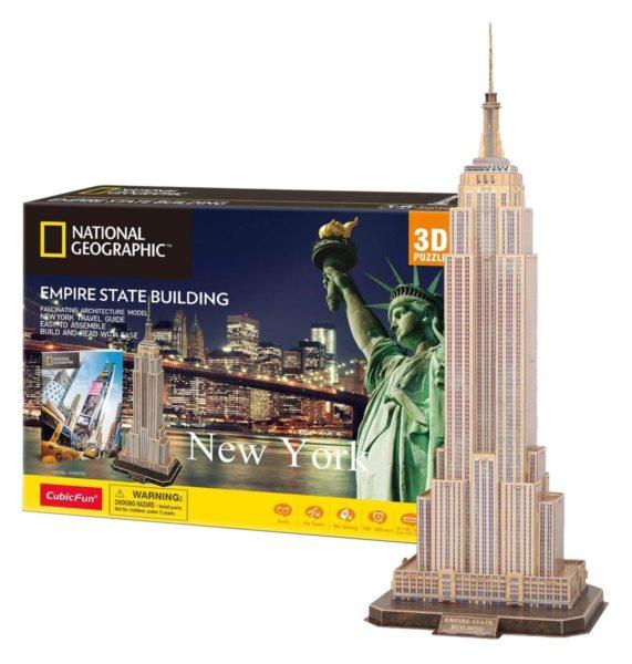CUBICFUN 3D puzzle National Geographic: Empire State Building 66 dílků