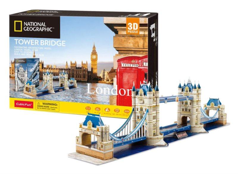 CUBICFUN 3D puzzle National Geographic: Tower Bridge 120 dílků