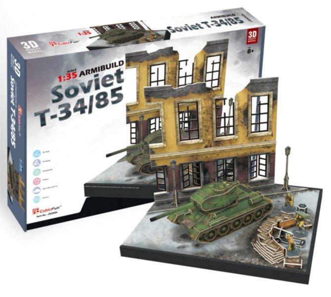 CUBICFUN 3D puzzle Tank T-34,85 213 dílků