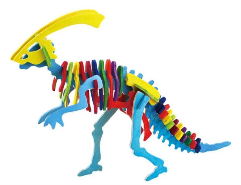ROBOTIME 3D puzzle Parasaurolophus s barvičkami