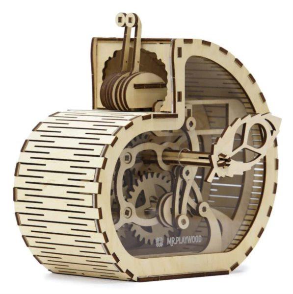 MR. PLAYWOOD 3D puzzle Pokladnička Šnek 83 dílků