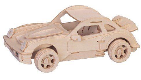 WOODEN TOY , WCK 3D puzzle Porsche 911 malé