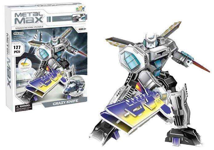 LING LE SI 3D puzzle Robot: Crazy Knife 127 dílků