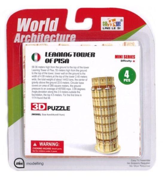LING LE SI 3D puzzle Šikmá věž v Pise 4 dílky