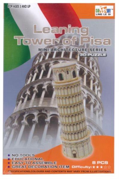 LING LE SI 3D puzzle Šikmá věž v Pise 8 dílků