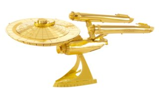 METAL EARTH 3D puzzle Star Trek: U.S.S. Enterprise NCC-1701-D (zlatá)