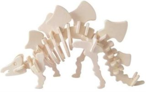 WOODEN TOY , WCK 3D puzzle Stegosaurus malý