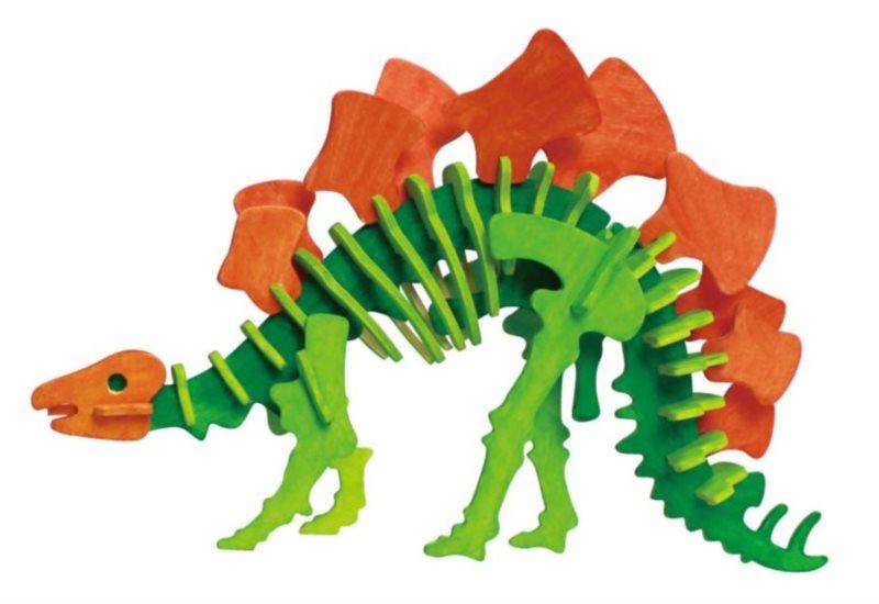 ROBOTIME 3D puzzle Stegosaurus s barvičkami