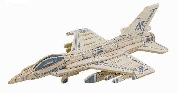 ROBOTIME 3D puzzle Stíhačka F16 16 dílků
