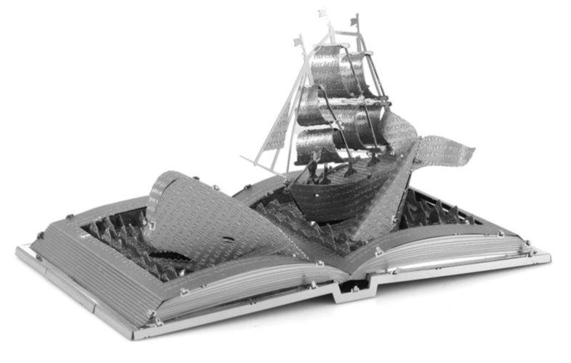 METAL EARTH 3D puzzle Kniha: Bílá velryba