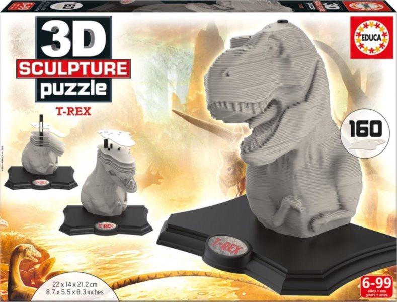 EDUCA 3D Puzzle T-Rex 160 dílků