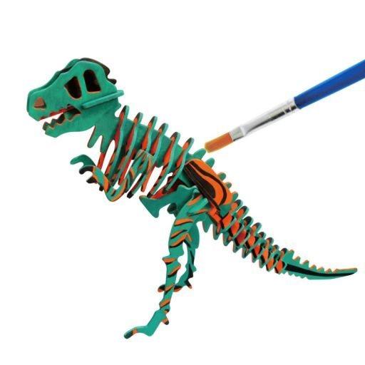 ROBOTIME 3D puzzle T-Rex s barvičkami