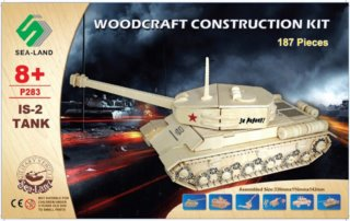 WOODEN TOY / WCK 3D puzzle Tank IS-2