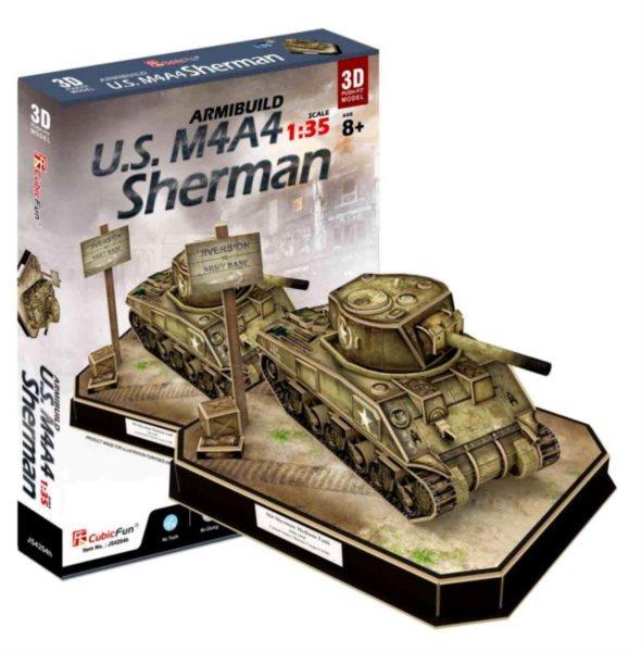 CUBICFUN 3D puzzle Tank U.S. M4A4 Sherman 263 dílků