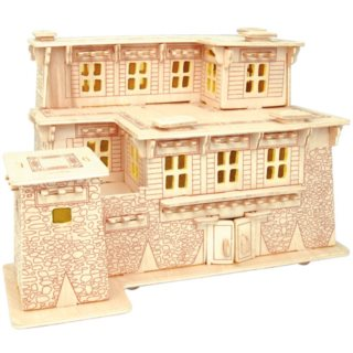 WOODEN TOY , WCK 3D puzzle Tibetský dům A