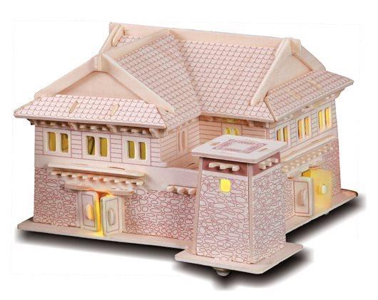 WOODEN TOY , WCK 3D puzzle Tibetský dům B