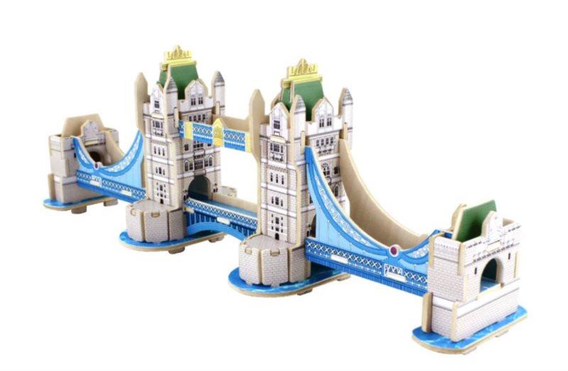 ROBOTIME 3D puzzle Tower Bridge barevný 59 dílků