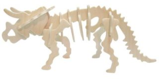 WOODEN TOY , WCK 3D puzzle Triceratops malý