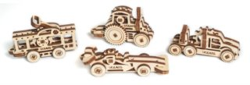 UGEARS 3D puzzle mini sada Dopravní prostředky