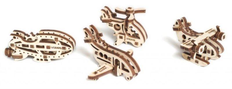 UGEARS 3D puzzle mini sada Letadla