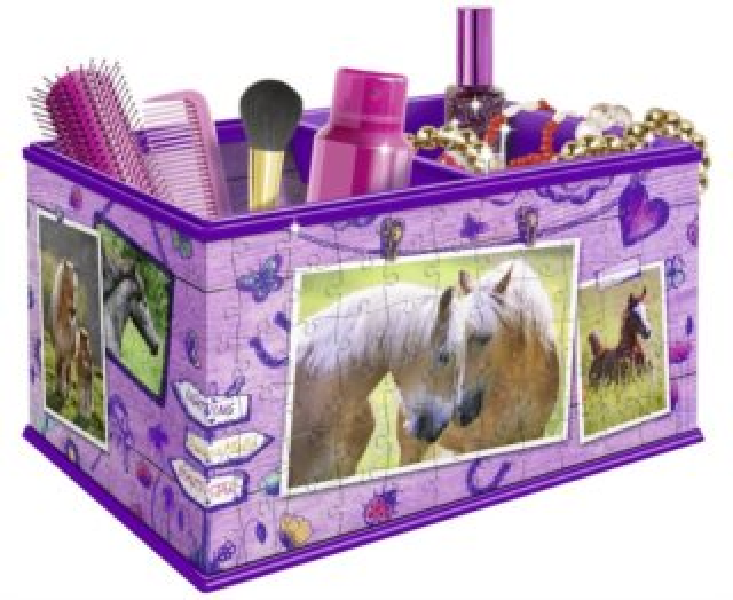 RAVENSBURGER 3D puzzle úložný box: Kůň 216 dílků