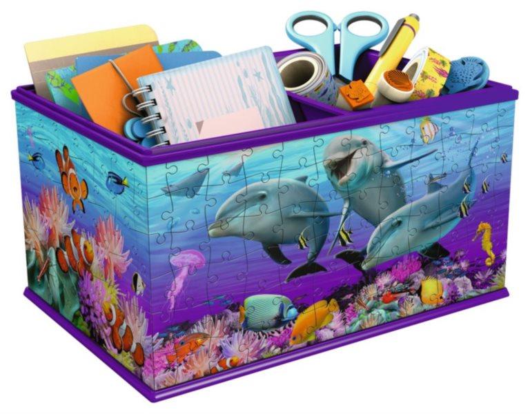 RAVENSBURGER 3D puzzle úložný box: Podvodní svět 216 dílků