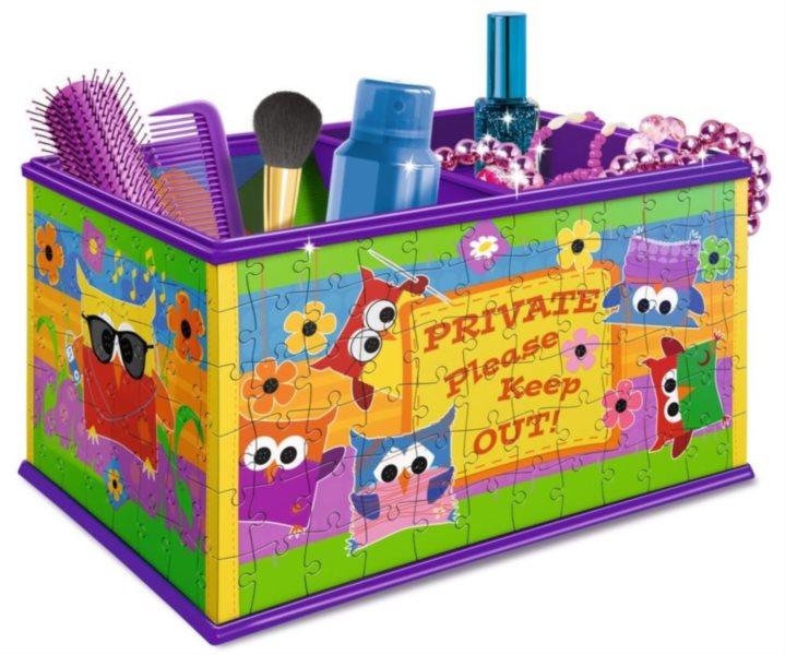 RAVENSBURGER 3D puzzle úložný box: Sovičky 216 dílků