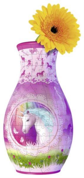 3D puzzle RAVENSBURGER Váza Jednorožec