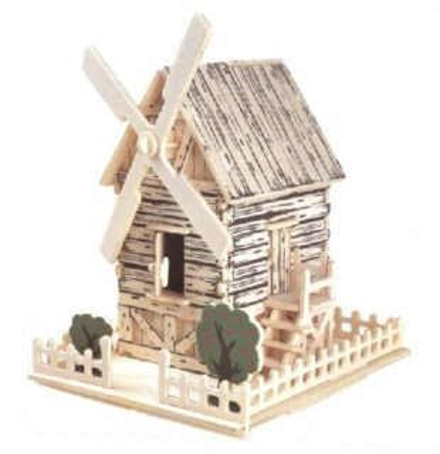 WOODEN TOY , WCK 3D puzzle Větrný mlýn