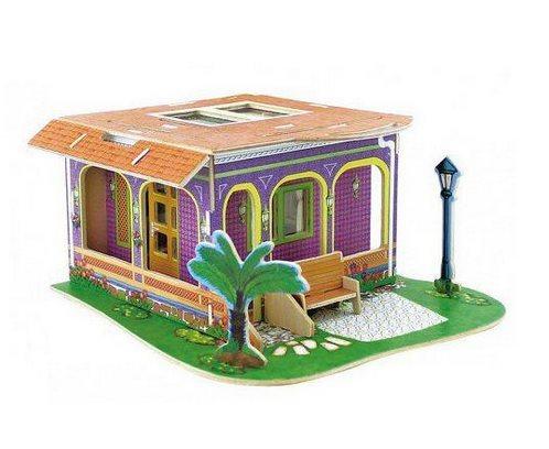 ROBOTIME 3D puzzle Vila snů: Studovna barevná 104 dílků