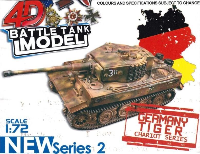 3D puzzle Vojenský tank Germany Tiger