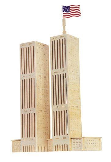 WOODEN TOY , WCK 3D puzzle WTC - Dvojčata