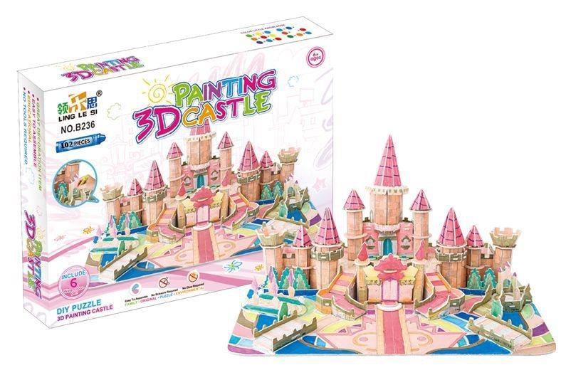 3D puzzle Zámek 102 dílků