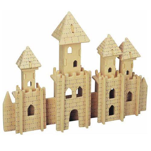 3D dřevěné puzzle Zámek
