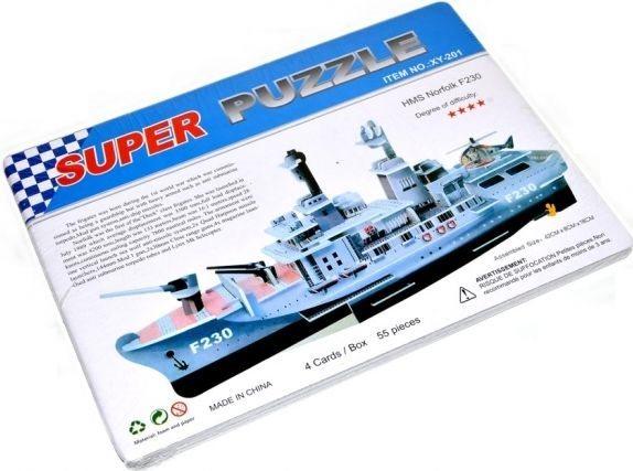 3D puzzle Válečná loď F230 HMS Norfolk