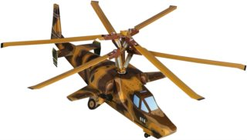 UMBUM 3D puzzle Vrtulník - Černý žralok