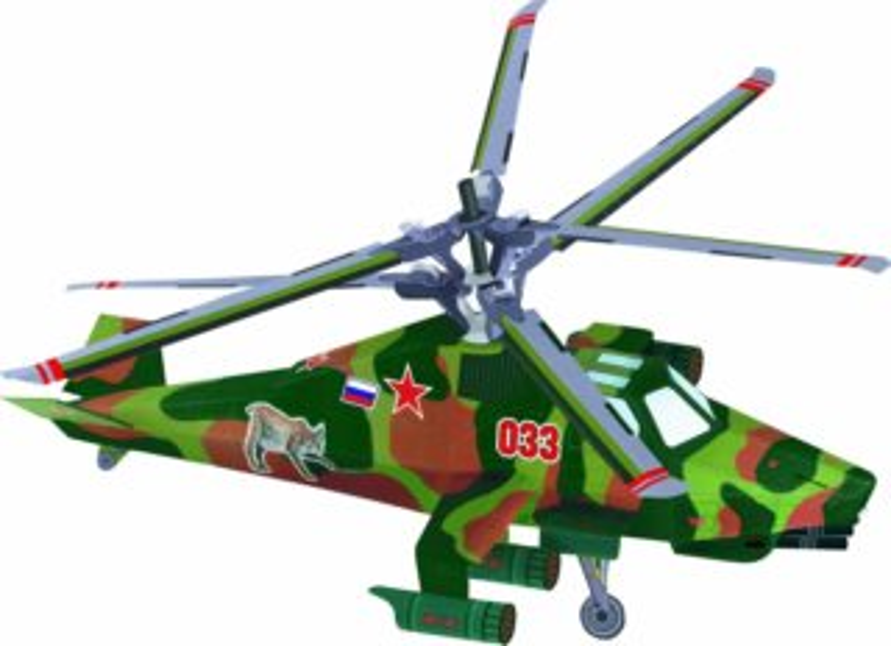 UMBUM 3D puzzle Vrtulník - Rys