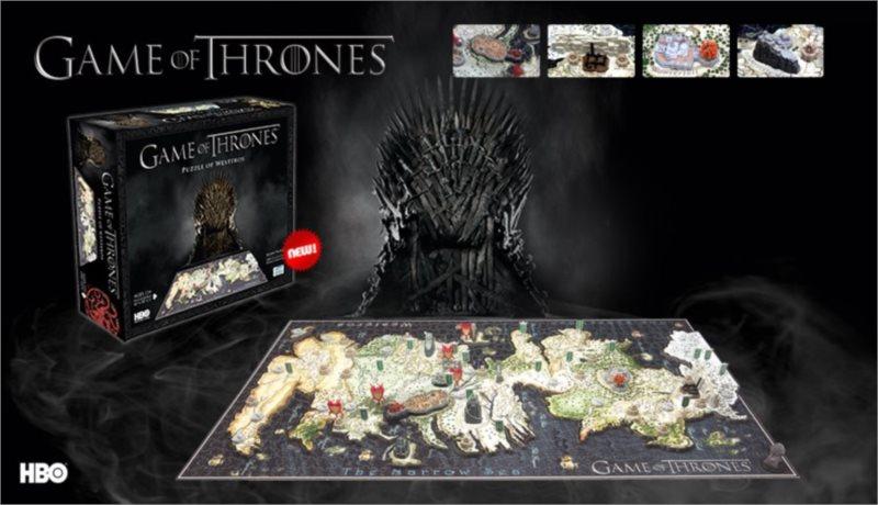4D Cityscape 4D puzzle Hra o trůny - Mapa Západozemí (Westeros)