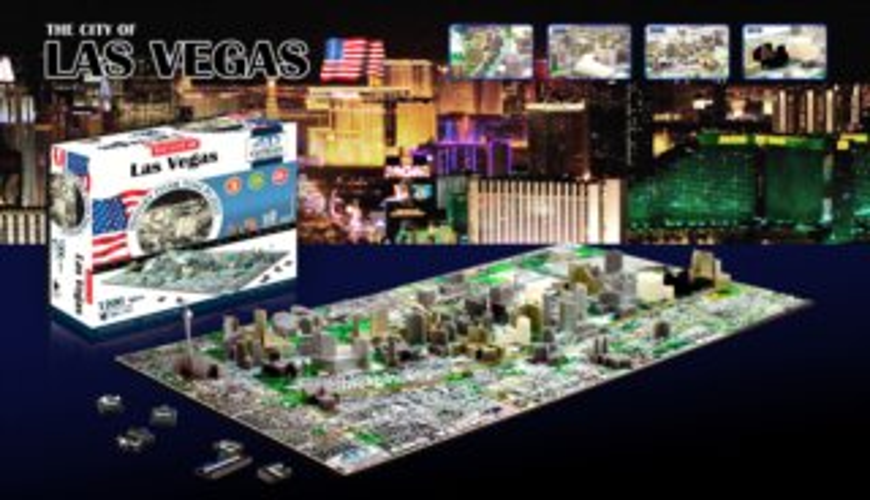 4D Cityscape Time puzzle - Las Vegas 1202 dílků
