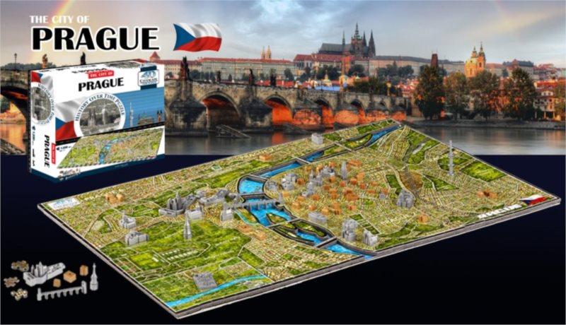 4D Cityscape Time puzzle Praha 1200 dílků