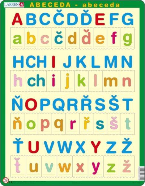 Dětské vzdělávací puzzle LARSEN 34 dílků - Abeceda