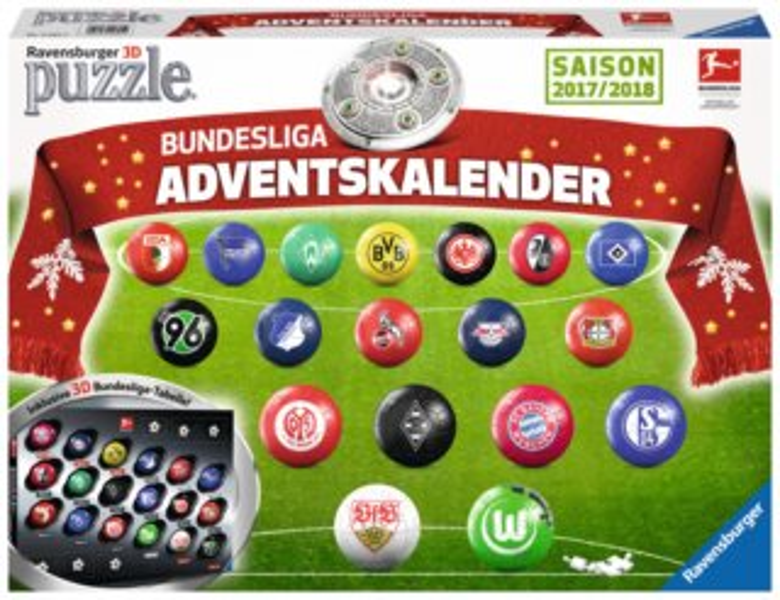 RAVENSBURGER Puzzleball Adventní kalendář Bundesliga 2017,2018