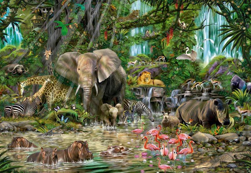 EDUCA Puzzle Africká džungle 2000 dílků