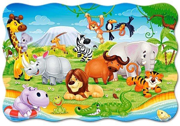 CASTORLAND Puzzle Africká zvířátka MAXI 20 dílků