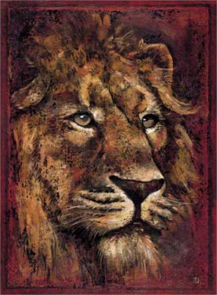 Puzzle EDITIONS RICORDI 1000 dílků - Pané, Africký lev