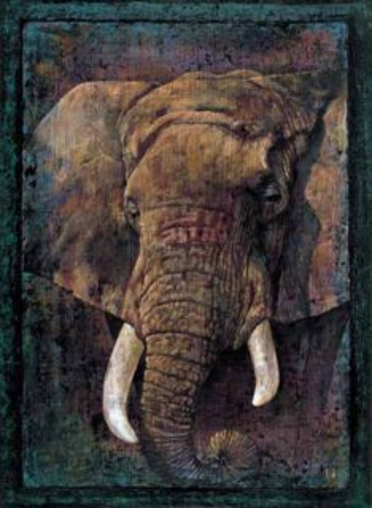 Puzzle EDITIONS RICORDI 1000 dílků - Africký slon
